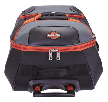 """Harley-Davidson 21"""" Quilted Carry-On Luggage Bag w/ Wheels 99323 GRAY/RUST - Wisconsin Harley-Davidson"""