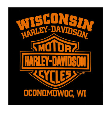 Harley-Davidson Men's Distressed Joker's Wild Crew-Neck Short Sleeve T-Shirt - Wisconsin Harley-Davidson