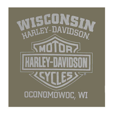 Harley-Davidson Men's Superior Performance Short Sleeve T-Shirt, Fatigue-Blend - Wisconsin Harley-Davidson