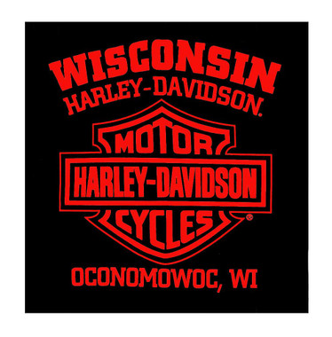 Harley-Davidson Men's Eternal Legends Crew-Neck Short Sleeve T-Shirt, Black - Wisconsin Harley-Davidson