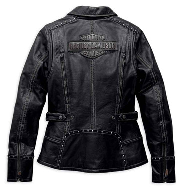 Harley-Davidson Women's Intrepidity Vented Leather Jacket, Black 98043-19VW - Wisconsin Harley-Davidson