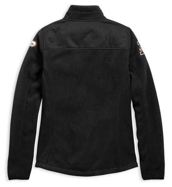 Harley-Davidson Women's H-D Racing Embroidered Fleece Jacket - Black 98598-19VW - Wisconsin Harley-Davidson