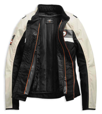 Harley-Davidson Women's Fennimore Riding Colorblocked Jacket 98287-19VW - Wisconsin Harley-Davidson