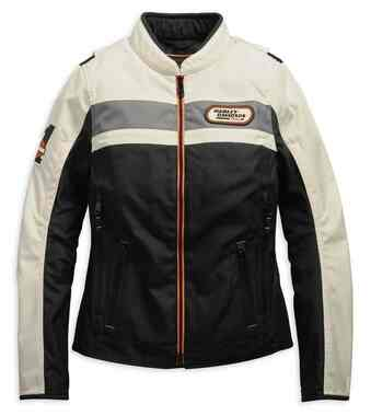 Harley-Davidson Women's Fennimore Riding Colorblocked Jacket 98287-19VW - Wisconsin Harley-Davidson