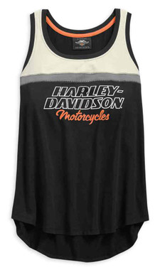 Harley-Davidson Women's H-D Racing Sleeveless Tank Top - Black 99135-19VW - Wisconsin Harley-Davidson