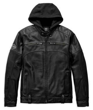 Harley-Davidson Men's Swingarm 3-IN-1 Leather Jacket, Black 98045-19VM - Wisconsin Harley-Davidson