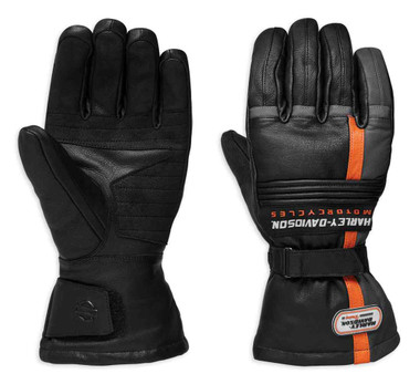 Harley-Davidson Men's Ratchett Gauntlet Leather Gloves, Black 98276-19VM - Wisconsin Harley-Davidson