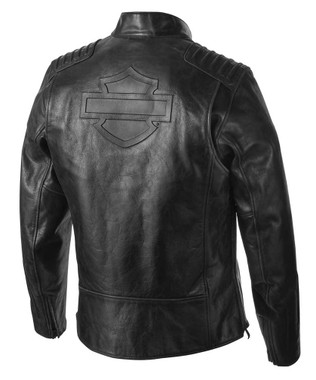 Harley-Davidson Men's Temerity Slim Fit Leather Jacket, Black 98047-19VM - Wisconsin Harley-Davidson