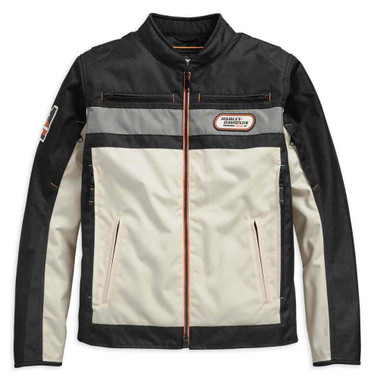 Harley-Davidson Men's Piledriver Colorblocked Riding Jacket 98284-19VM - Wisconsin Harley-Davidson