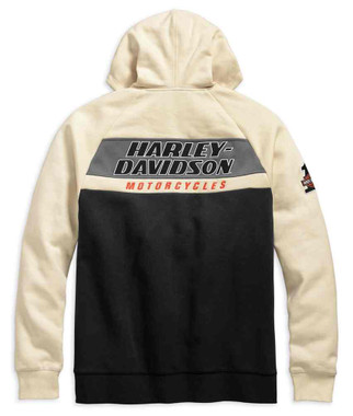 Harley-Davidson Men's H-D Racing Colorblocked Zippered Hoodie 99161-19VM - Wisconsin Harley-Davidson