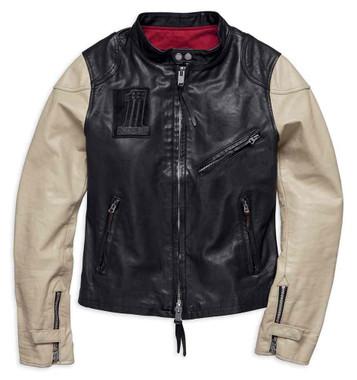 Harley-Davidson Women's Pushrod Colorblocked Leather Jacket 98034-18VW - Wisconsin Harley-Davidson