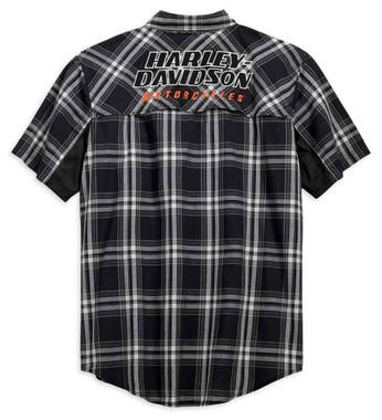 Harley-Davidson Men's H-D Racing Performance Stay Cool Plaid Shirt 99164-19VM - Wisconsin Harley-Davidson