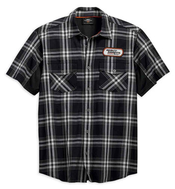 Harley-Davidson Men's H-D Racing Performance Stay Cool Plaid Shirt 99164-19VM - Wisconsin Harley-Davidson