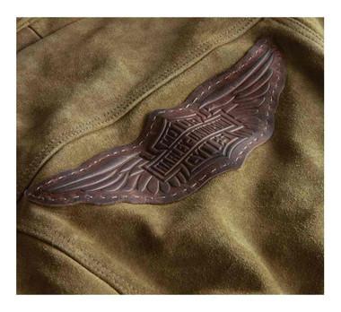 Harley-Davidson Women's Gauges Patch Suede Leather Jacket - Tan 98040-19VW - Wisconsin Harley-Davidson