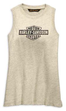 Harley-Davidson Women's Distressed Logo Tank Top, Off-White 99255-19VW - Wisconsin Harley-Davidson
