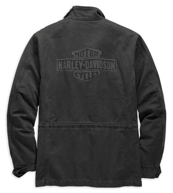 Harley-Davidson Men's Logo Slim Fit Field Jacket, Black Olive 98594-19VM - Wisconsin Harley-Davidson