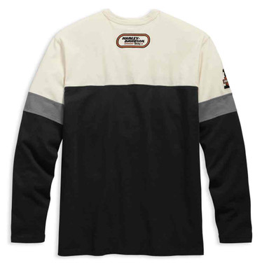 Harley-Davidson Men's H-D Racing Long Sleeve Colorblocked Henley 99167-19VM - Wisconsin Harley-Davidson
