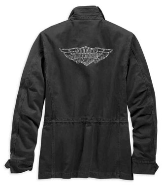 Harley-Davidson Women's Studded Accent Field Jacket - Black 98595-19VW - Wisconsin Harley-Davidson