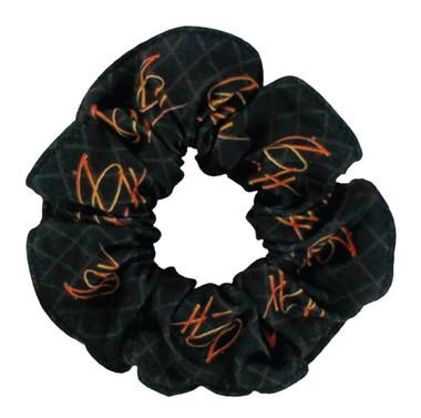 Harley-Davidson Women's Spark H-D Hair Scrunchie, Black & Orange HS31830 - Wisconsin Harley-Davidson