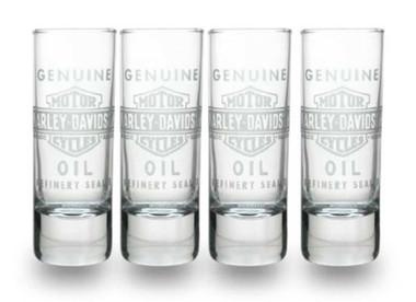 Harley-Davidson Genuine Oil Glass Shot Glasses, Set of 4, 2.5 oz. SG21271 - Wisconsin Harley-Davidson
