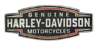 Harley-Davidson 2D Die Cast Velocity Text Pin - Black Plated Nickel P327644 - Wisconsin Harley-Davidson