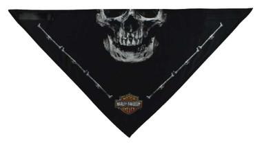 Harley-Davidson Men's 3-in-1 Convertible Deadly Jaw Bandana, Black BAC91080 - Wisconsin Harley-Davidson