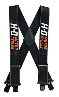 "Harley-Davidson Men's Traction H-D Suspenders, 3 Size Lengths - 42"", 48"" or 54"" - Wisconsin Harley-Davidson"