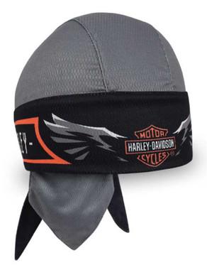 Harley-Davidson Men's Velocity Perforated Headwrap, Charcoal & Black HW31480 - Wisconsin Harley-Davidson