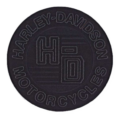 Harley-Davidson Embroidered 3D Forged Circle Emblem Patch, 8 x 8 in. EM324304 - Wisconsin Harley-Davidson