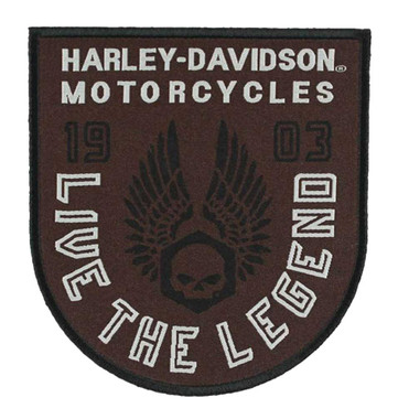 Harley-Davidson Embroidered Forged Wings Emblem Patch, 3.375 x 3.75 in EM325392 - Wisconsin Harley-Davidson
