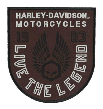 HARLEY DAVIDSON GOTHIC WINGS SKULL VEST JACKET PATCH