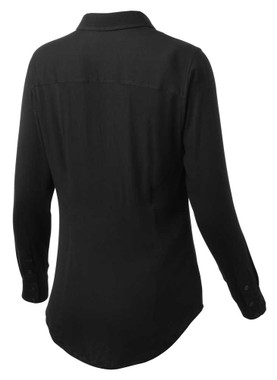 Harley-Davidson Women's Stretch Rayon Long Sleeve Button Shirt, Black 99129-19VW - Wisconsin Harley-Davidson