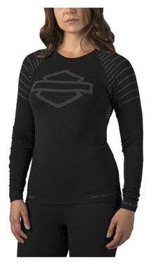 Harley-Davidson Women's FXRG High-Performance Base-Layer Tee, Black 98270-19VW - Wisconsin Harley-Davidson