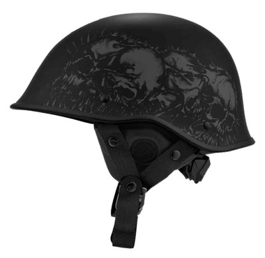Harley-Davidson Men's Odin Skull B02 Half Helmet, Matte Black 98293-19VX - Wisconsin Harley-Davidson
