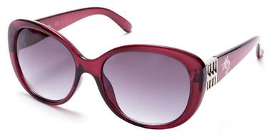 Harley-Davidson Womens Oversized Butterfly Sunglasses, Shiny Bordeaux/Smoke Lens - Wisconsin Harley-Davidson