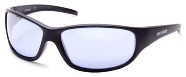 Harley-Davidson Men's Tooth-Shaped Hinge Sunglasses, Matte Black & Mirror Lenses - Wisconsin Harley-Davidson