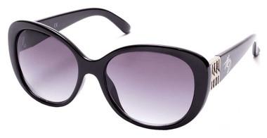 Harley-Davidson Women's Oversized Butterfly Sunglasses, Shiny Black/Smoke Lenses - Wisconsin Harley-Davidson