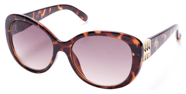 Harley-Davidson Women's Oversized Butterfly Sunglasses, Dark Havana/Brown Lenses - Wisconsin Harley-Davidson
