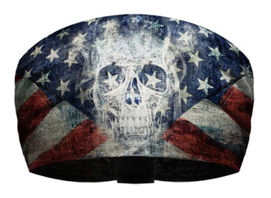 That's A Wrap Unisex Patriotic Ghost Skull Knotty Band, Ultra-Soft Fabric KB2614 - Wisconsin Harley-Davidson