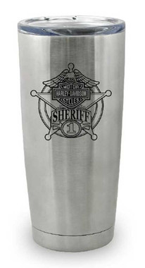 Harley-Davidson Sheriff Original Travel Mug, Stainless Steel - 20 oz. MG12640 - Wisconsin Harley-Davidson