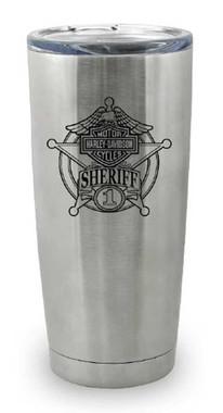 Harley-Davidson Sheriff Original Travel Mug, Stainless Steel - 20 oz. MG12640 - Wisconsin Harley-Davidson