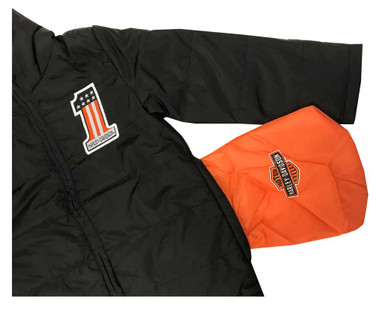 Harley-Davidson Little Boys' Packable Puffer Toddler Jacket, Black 6073867 - Wisconsin Harley-Davidson