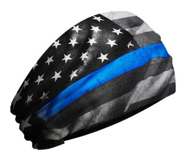 That's A Wrap Police Service Flag Ultra-Soft Performance Knotty Band KB2915-BLUE - Wisconsin Harley-Davidson