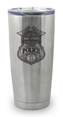 Harley-Davidson Police Original Travel Mug, Stainless Steel - 20 oz. MG12630 - Wisconsin Harley-Davidson
