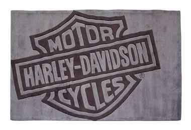 Harley-Davidson Bar & Shield Large Area Rug - Deep Gray Acrylic HDL-19502 - Wisconsin Harley-Davidson