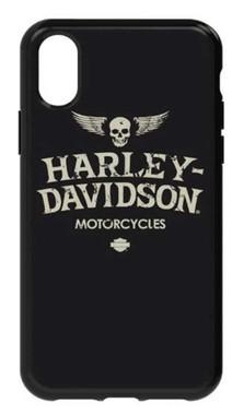 Harley-Davidson Distressed Wings iPhone X Flexible Phone Shell, Black 7917 - Wisconsin Harley-Davidson