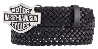 Harley-Davidson Women's Stagecoach Genuine Leather Black Belt HDWBT11535-BLK - Wisconsin Harley-Davidson