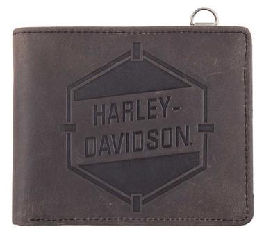 Harley-Davidson Men's Spare Parts Leather Bi-Fold Wallet w/ RFID HDMWA11576 - Wisconsin Harley-Davidson