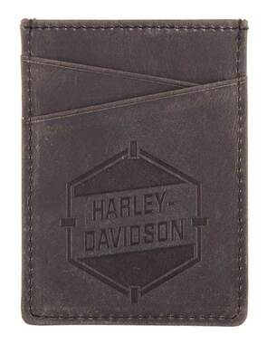 Harley-Davidson Men's Spare Parts Bottle Opener Leather Card Case HDMWA11564 - Wisconsin Harley-Davidson