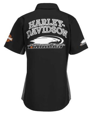 Harley-Davidson Women's Screamin' Eagle Competitor Crew, Black HARLLW0014 - Wisconsin Harley-Davidson